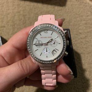 Michael Kors Watch Pink Acrylic